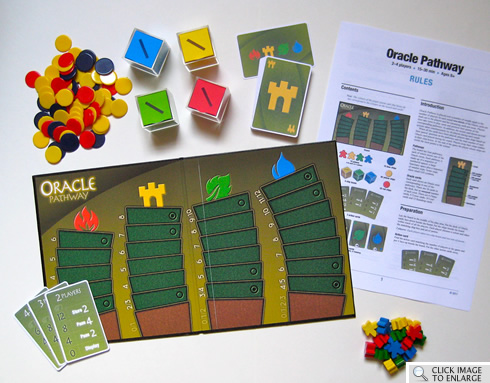 Board game prototype: Oracle Pathway