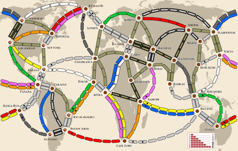 Ticket to Ride: Around the World - Map 5