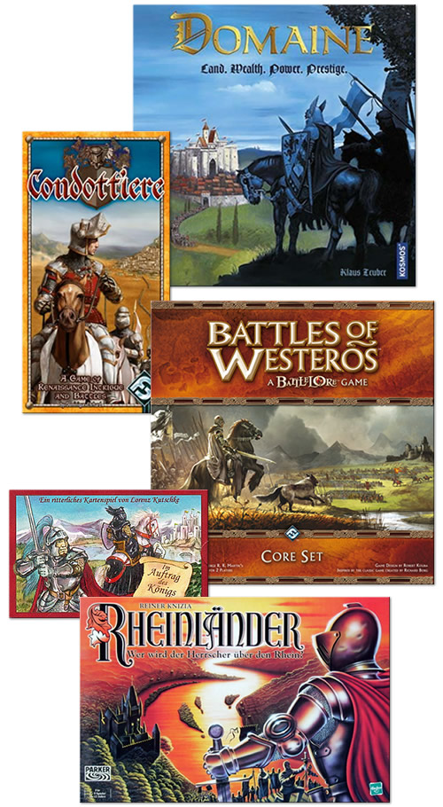 The Age of Chivalry - Domaine, Condottierre, Battle of Westeros, Im Auftrag des Konigs, Rheinlander