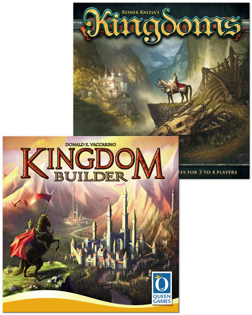 The Age of Chivalry - Donald X. Vaccarino: Kingdom Builder, Reiner Knizia: Kingdoms